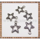 Charm Star 18mm - argintiu