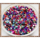Margele nisip 2mm - mix multicolor (50gr)