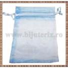 Saculet organza 8,5x7cm bleu