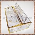 Cutie acetofan - filigran auriu cu fluturas 9x6,5x3cm
