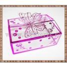 Cutie acetofan - filigran roz-lila cu fluturas 9x6,5x3cm