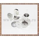Baza cercei cu disc 10mm - argintiu (10 buc)