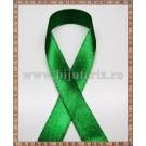 Panglica satin verde 1cm - 1m