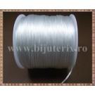 Fir elastic negru Crystal String 0,8 mm - 1 rola cca 70m