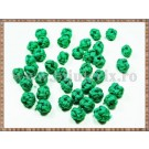 Noduri decorative- snur verde - 8,5-10mm (5buc)