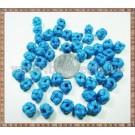 Noduri decorative- snur turcoaz - 8,5-10mm (5buc)