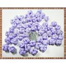 Noduri decorative- snur mov deschis - 8,5-10mm (5buc)