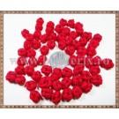 Noduri decorative- snur rosu - 8,5-10mm (5buc)