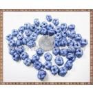 Noduri decorative- snur albastru - 8,5-10mm (5buc)