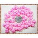 Noduri decorative- snur roz - 8,5-10mm (5buc)