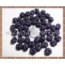 Noduri decorative- snur mov inchis - 8,5-10mm (5buc)