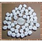 Noduri decorative- snur alb - 8,5-10mm (5buc)