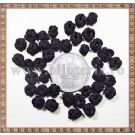 Noduri decorative- snur negru - 6-7mm (5buc)