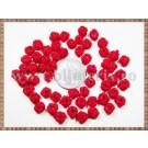 Noduri decorative- snur rosu - 6-7mm (5buc)