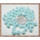 Noduri decorative- snur turcoaz deschis - 6-7mm (5buc)