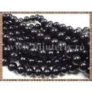 Margele - perle sticla 10mm - negru (20buc)