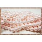 Margele - perle sticla 6mm - roz pal sidefat (50buc)