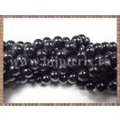 Margele - perle sticla 8mm - negru (50buc)