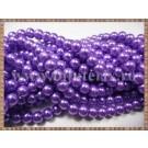 Margele - perle sticla 6mm - mov-lila sidefat (50buc)