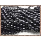 Margele - perle sticla 6mm - negru (50buc)