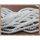 Margele - perle sticla 4mm - alb sidefat (50buc)