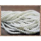 Margele - perle sticla 8mm - ivoire sidefat (50buc)