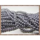 Margele - perle sticla 4mm - gri sidefat (50buc)