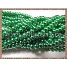 Margele - perle sticla 4mm - verde sidefat (10buc)