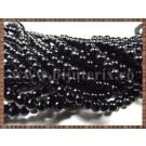 Margele - perle sticla 4mm - negru (50buc)