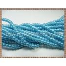 Margele - perle sticla 4mm - turcoaz sidefat (50buc)