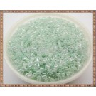 Margele tub 2-3mm - verde deschis perlat (50gr)