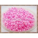 Margele nisip 4mm - roz perlat cu interior fucsia(50gr)