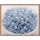 Margele nisip 4mm - bleu perlat cu interior albastru(50gr)