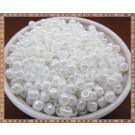 Margele nisip 4mm - alb perlat (50gr)