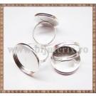 Baza inel cu platou rotund 20mm - argintiu