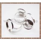 Baza inel cu platou rotund 16mm - argintiu
