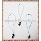 Snur breloc 5cm bleu - 3buc