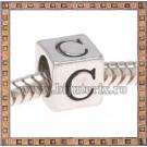 Margica argintie 6.4mm Litera C