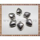 Charm Inima 12mm - argintiu