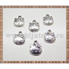 Charm Hello Kitty 12mm - argintiu