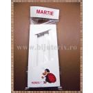 Set Cutie carton martisor Noroc Gargarita mare cu fereastra 11x5x1cm + Punga celofan Martie - 10buc