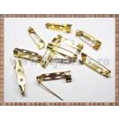 Ace de brosa 2,5cm (10buc) - auriu