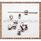Capat snur clopotel - 5mm - argintiu (10 buc)