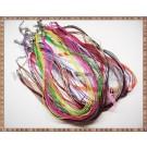 Mix Snururi colier organza si ata cerata - 12 culori +1 gratis