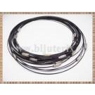 Baza Colier - sarma siliconata cu memorie negru 45cm