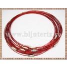 Baza Colier - sarma siliconata cu memorie rosu 45cm