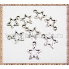 Charm Stea 13mm - argintiu 5buc