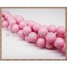 Margele - sticla acrilica 10mm - roz pal (10buc)