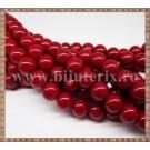 Margele - sticla acrilica 10mm - rosu carmin (10buc)