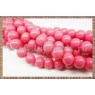 Margele - sticla acrilica 10mm - roz - somon (10buc)